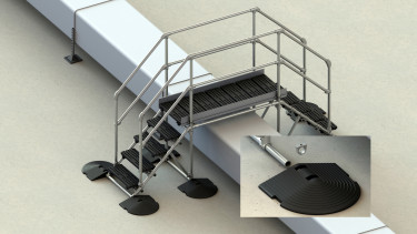 Membrane / asphalt / PVC roof step over (suitable for obstacles 800mm high)
