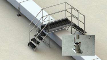 Concrete roof step over (suitable for obstacles 1000mm high)