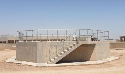 waste water plant handrail system