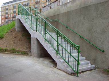 Examples of DDA handrailing
