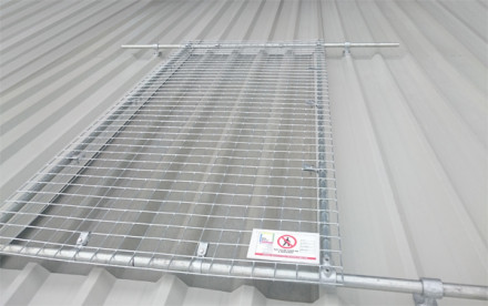 Fragile skylight and rooflight protection for metal  profile roofs