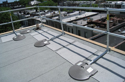 permanent freestanding roof edge protection