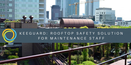 Rooftop safety solution for maintenance staff