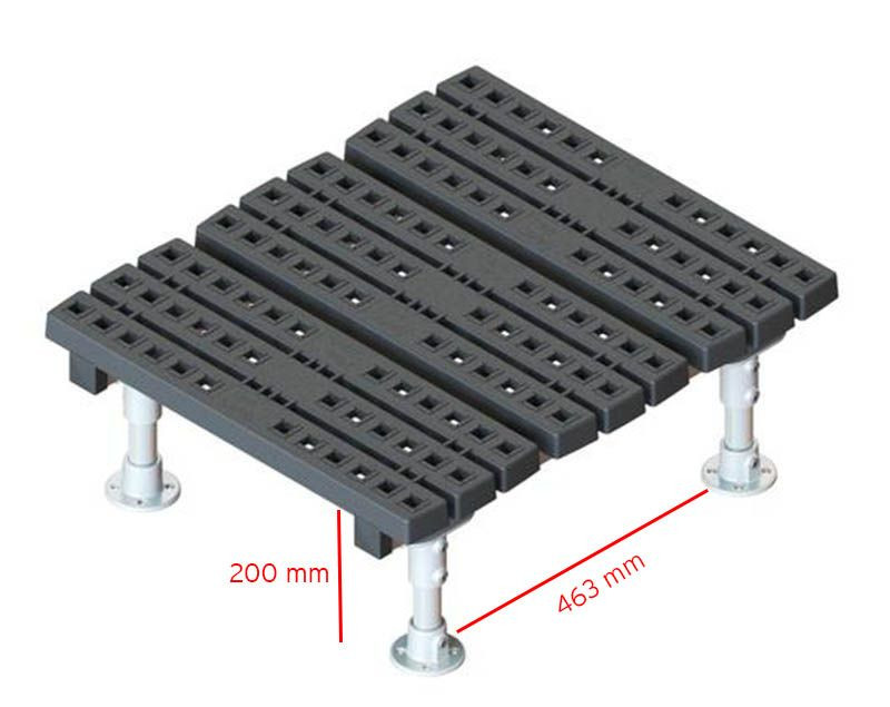 fixed mini step over platform measurements