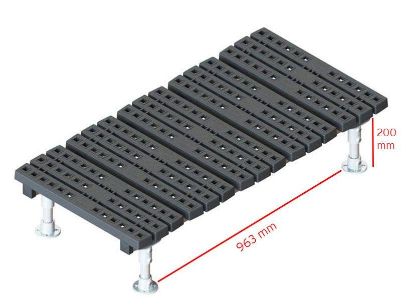 mini fixed stepover measurements