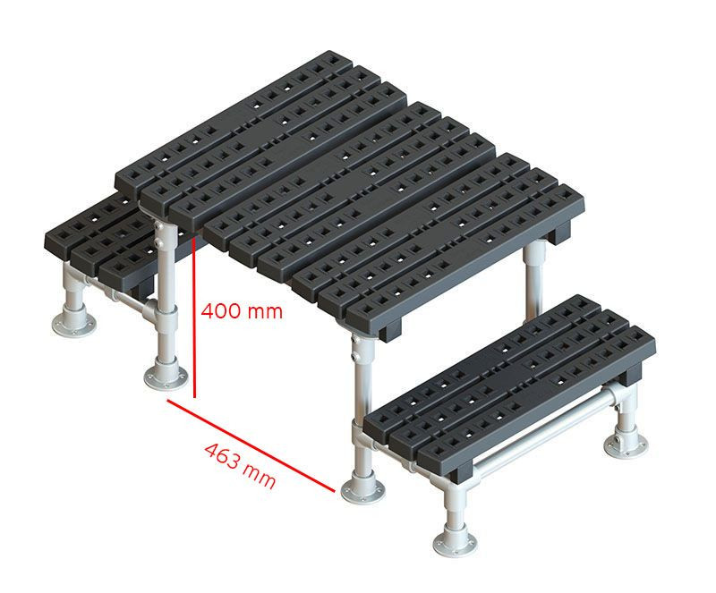 mini fixed step-over measurements