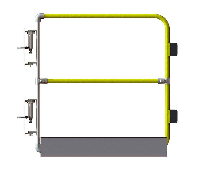 Full height ladder gate, powder coated