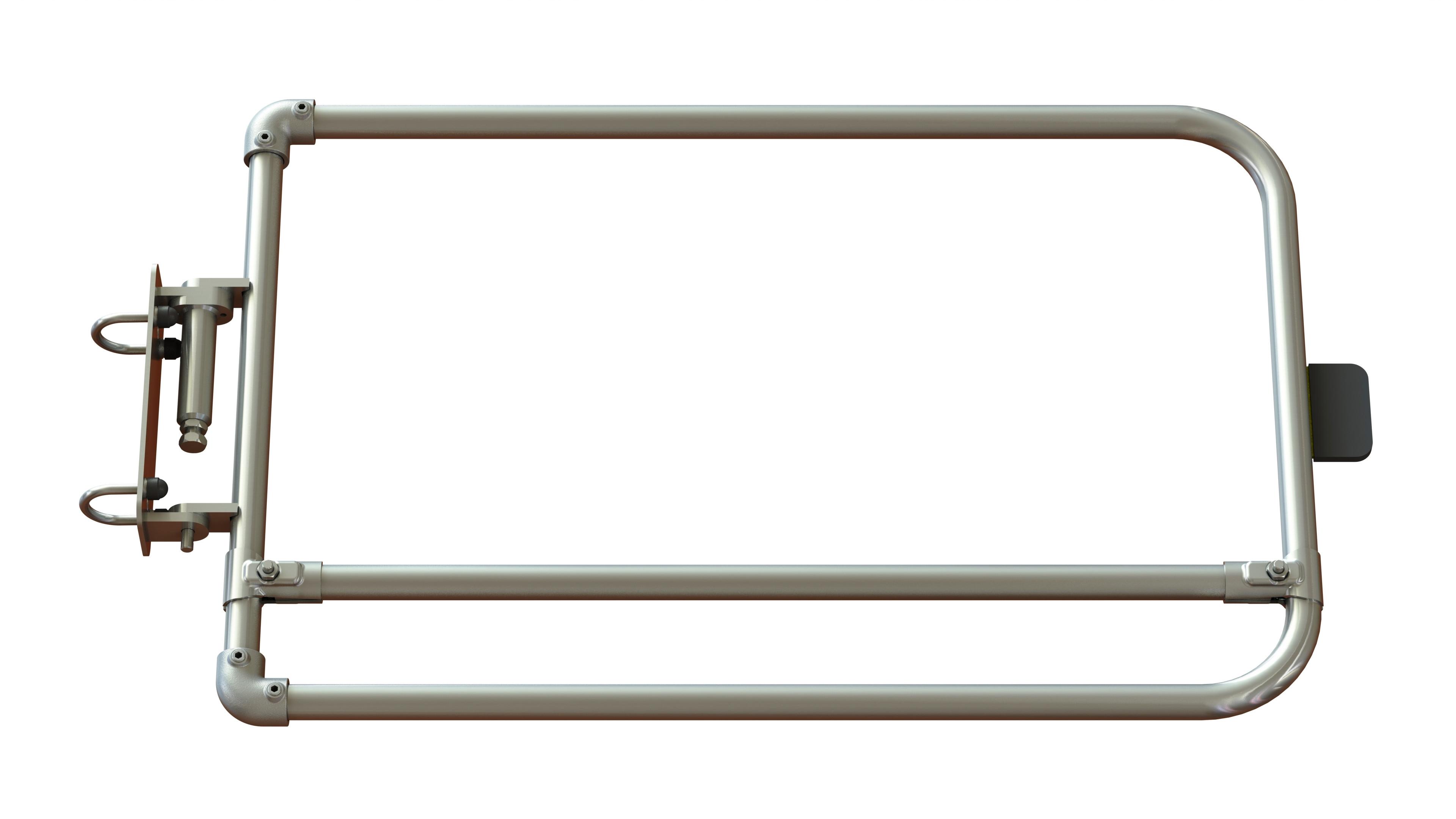 Self closing industrial safety gate - Galvanised steel