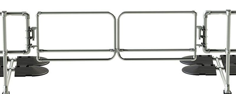 Double self closing industrial safety gate - Galvanised steel