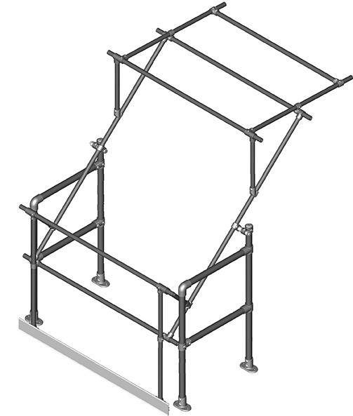 Narrow mezzanine pallet gate