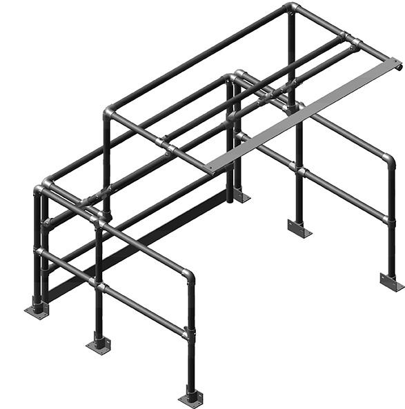 wide mezzanine pallet gate system