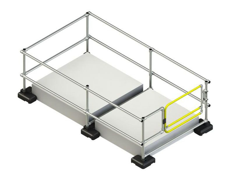 hatch guard with self closing gate