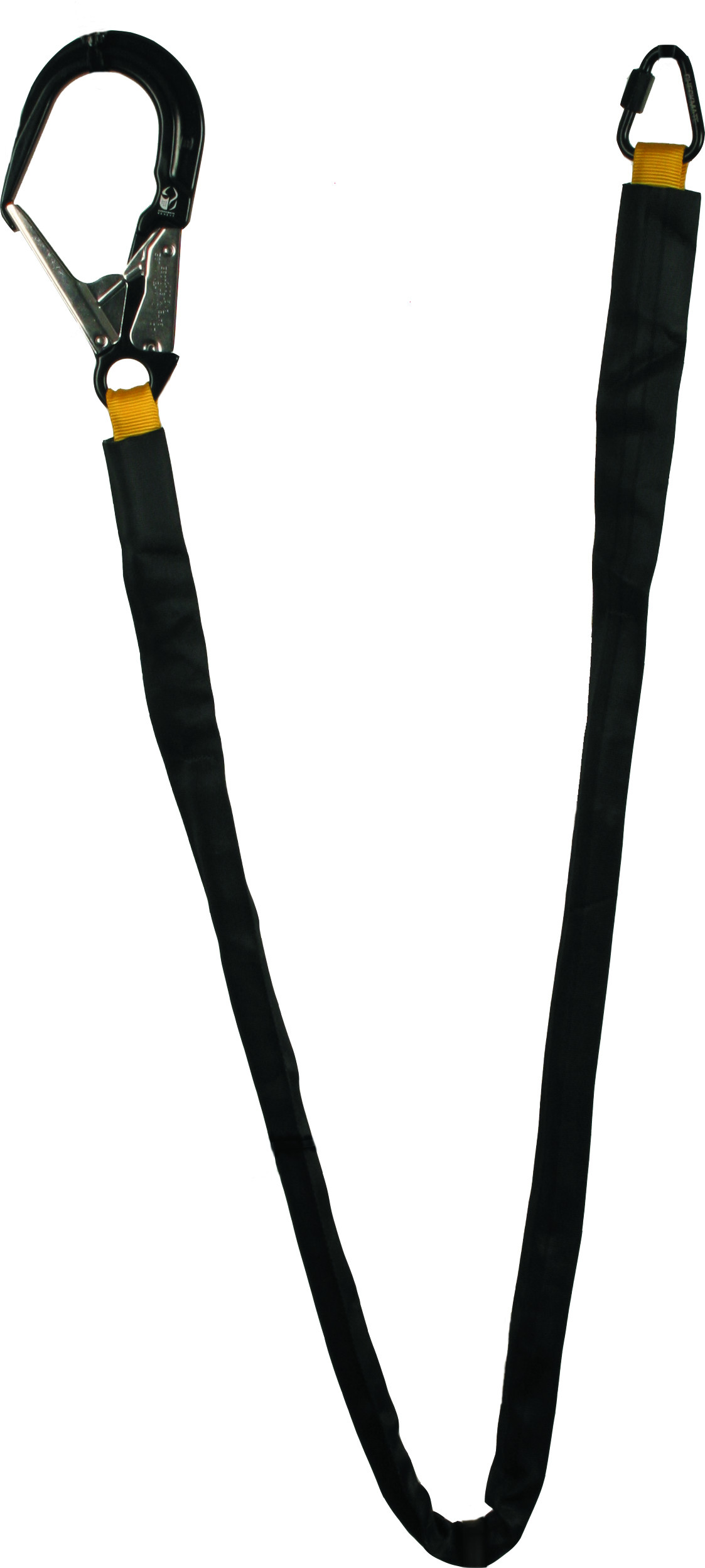 energy absorbing lanyard with scaffold hook