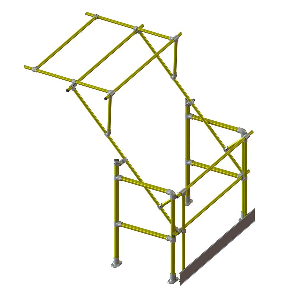 Narrow Mezzanine Pallet Gate - Yellow (for loads 1.3m wide x 1.65m high)