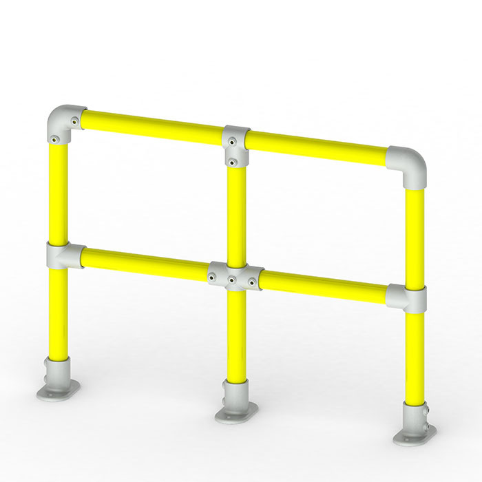 1m tall racking protection barrier render