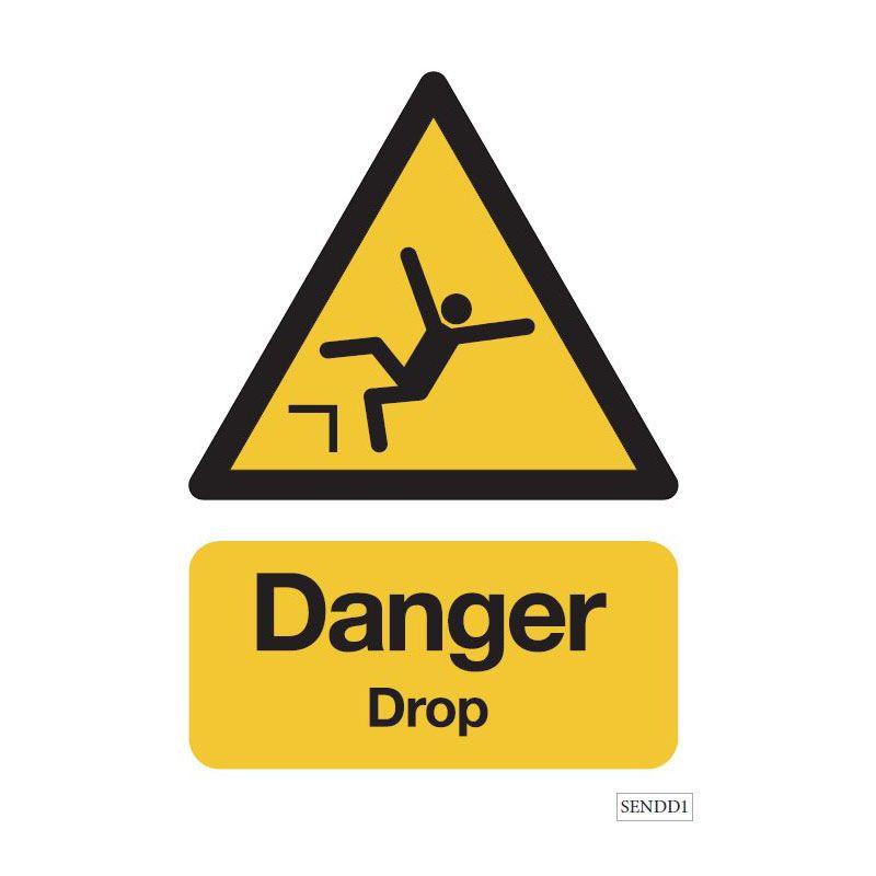 Danger - Drop safety sign