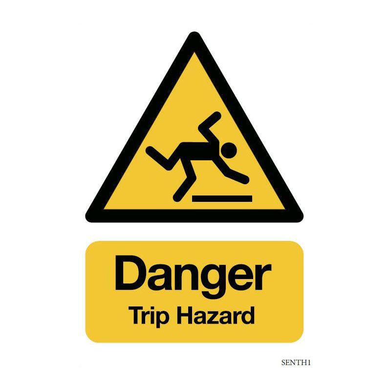 Safety sign: Danger - Trip hazard (Aluminium)