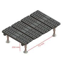 fixed mini step over platform measurements