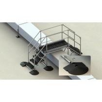 Membrane, asphalt and PVC roof step over