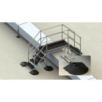 roof step over for membrane, asphalt or PVC roofs
