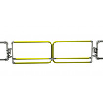 Self Closing Double Safety Gate, Yellow