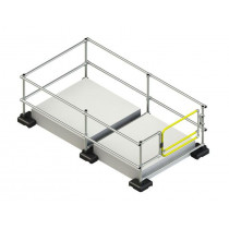 Kee Dome hatch guard with a self-closing gate (1.5m x 2.8m)