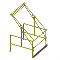 Tall Load Pallet Gate - Yellow (for loads 1.3m wide x 2.25m high)