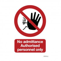 Safety sign: Authorised personnel only (Aluminium)