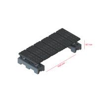 Mini step-over platform - Freestanding, 187x1035mm clearance