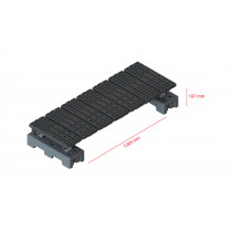 Mini step-over platform - Freestanding, 187x1285mm clearance