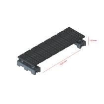 Mini step-over platform - Freestanding, 187x1535mm clearance