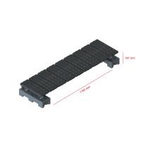 Mini step-over platform - Freestanding, 187x1785mm clearance