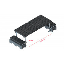 Mini step-over platform - Freestanding, 380x1212mm clearance