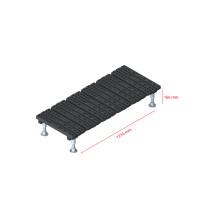 Mini step-over platform - Fixed, 166x1216mm clearance
