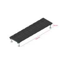 Mini step-over platform - Fixed, 166x1966mm clearance