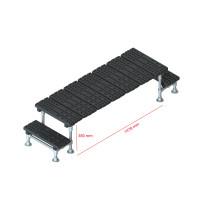 Mini step-over platform - Fixed, 380x1478mm clearance