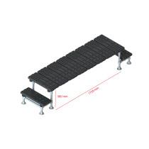 Mini step-over platform - Fixed, 380x1728mm clearance
