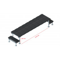 Mini step-over platform - Fixed, 380x1970mm clearance