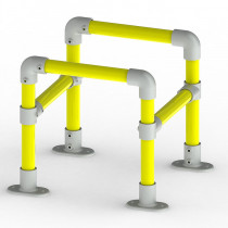 high vis service protection barrier system image