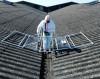 Valley Walk platform on asbestos roof