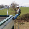 Man using Accessanka on a roof