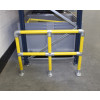 photo of a long racking protection barrier system