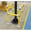 high vis service protection barrier system image installed around a metal post