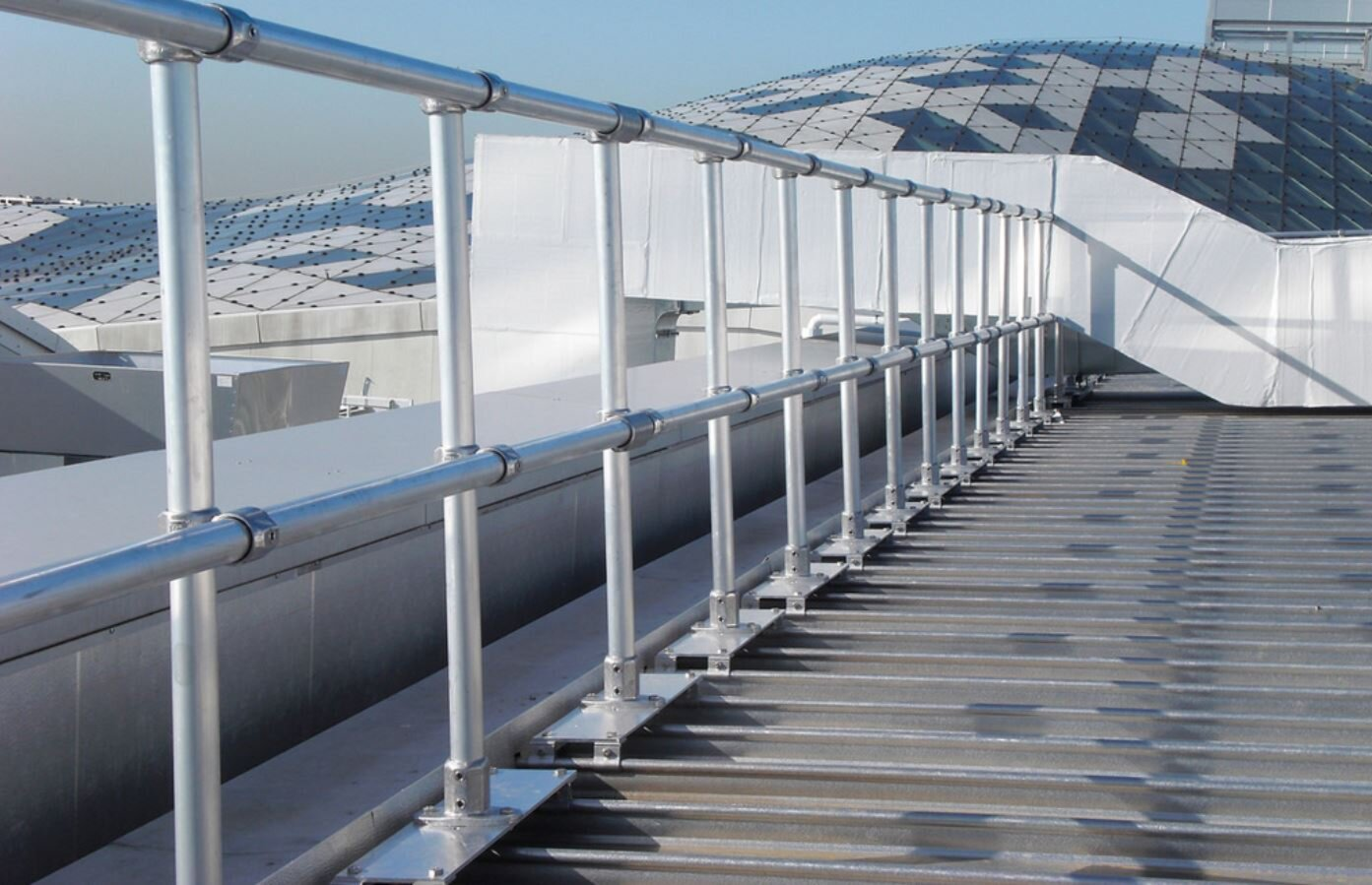 KeeGuard Topfix Roof Edge Protection for metal roofs