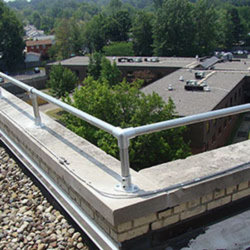 Parapet And Wall Mounted Handrail Fixed Roof Handrail