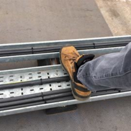Exposed trays