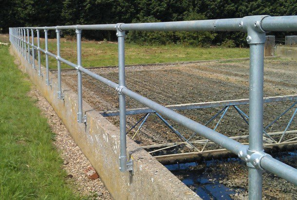 Ground based handrail