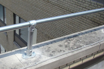 Top fixed handrail