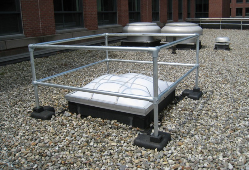 Kee Dome rooflight guardrail
