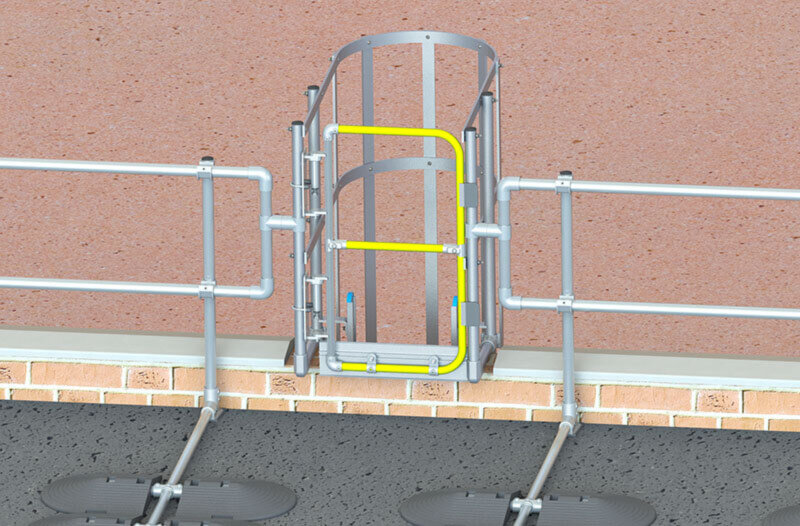 Safety gates for CAT ladders